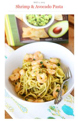 shrimp-and-avocado-pasta